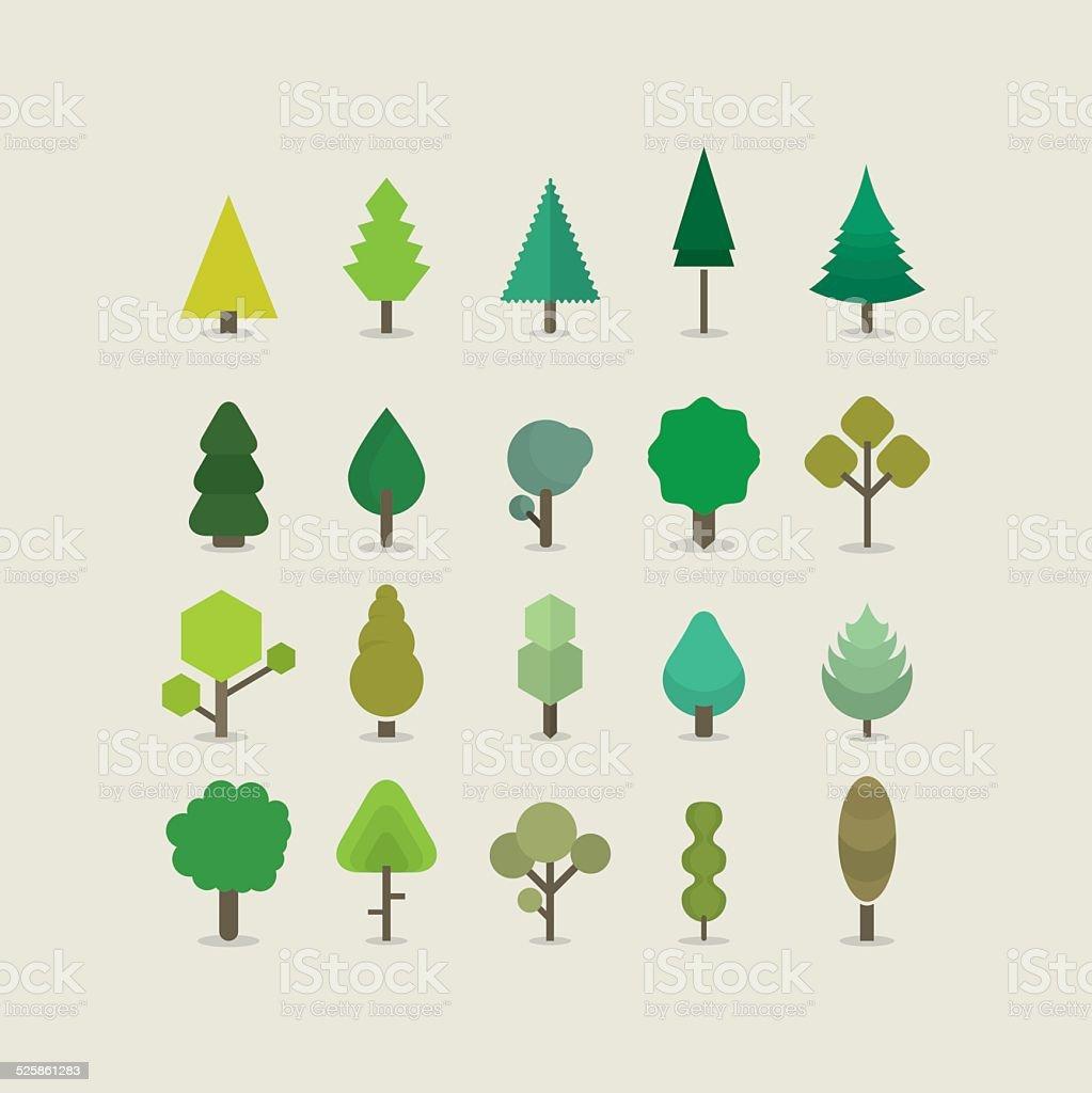 Baum Farbe – Vektorgrafik