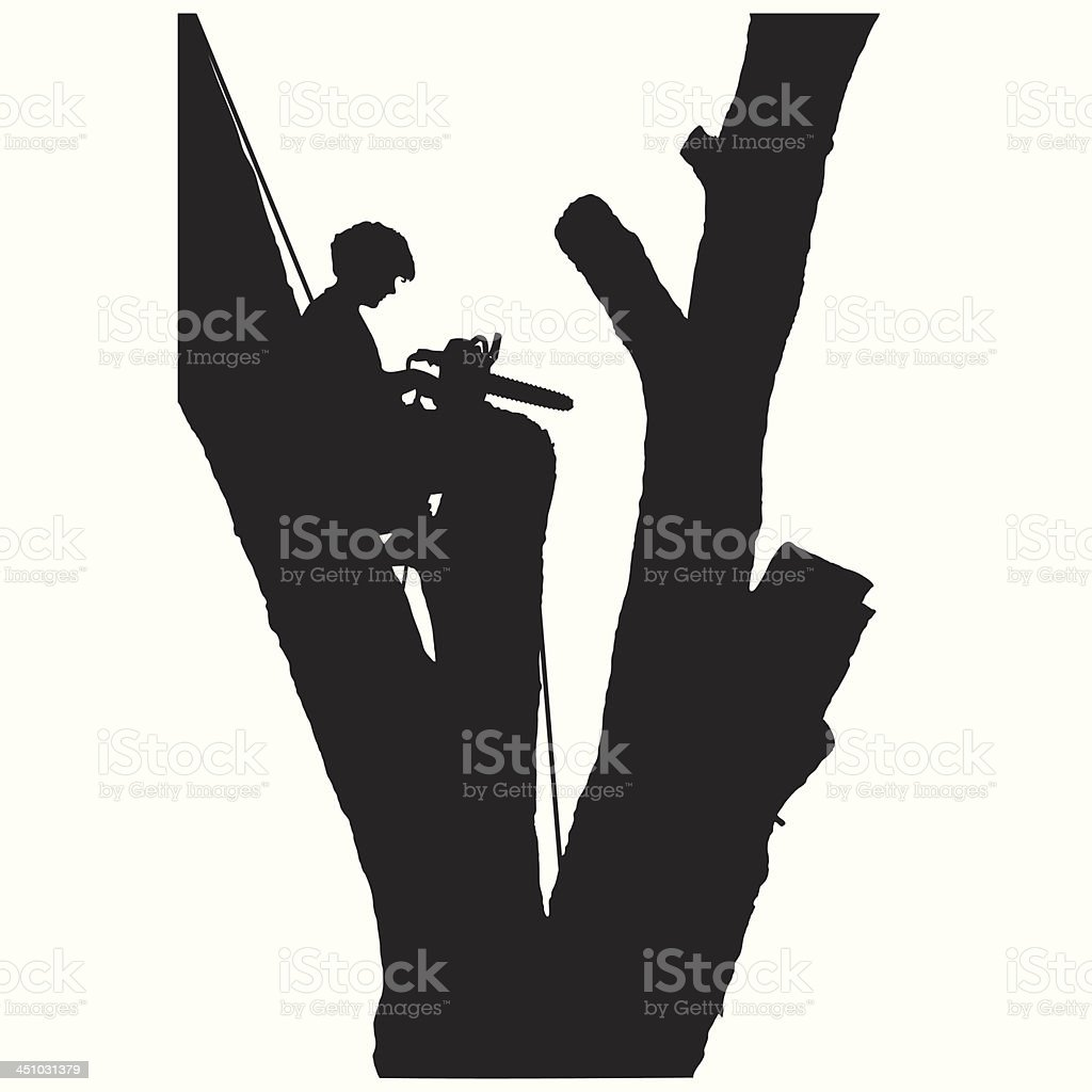 Tree Cutter vector art illustration