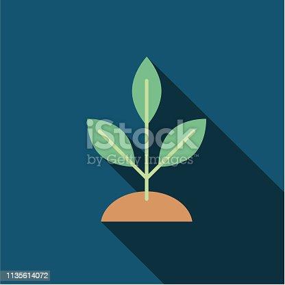 istock Tree Environment Flat Design Icon 1135614072