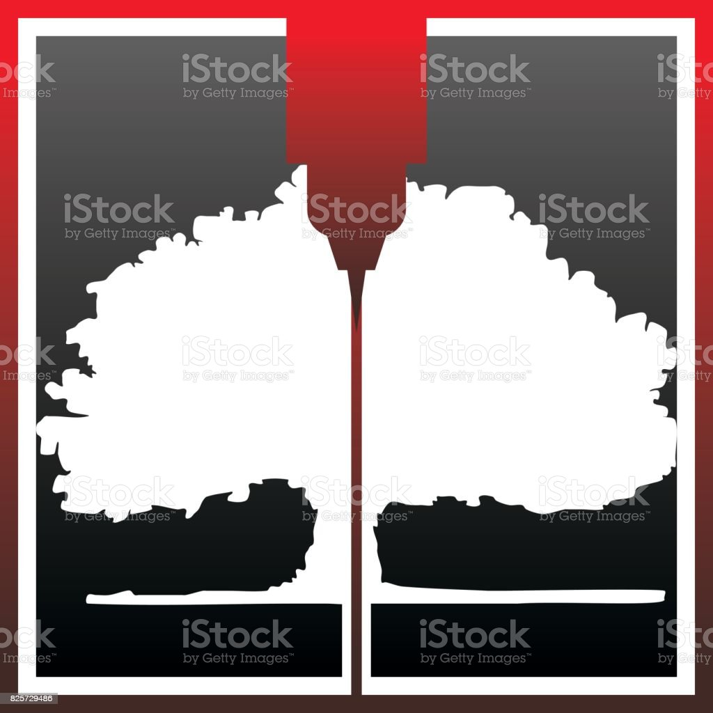 Tree Gear CNC Service vector art illustration