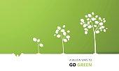 Tree growth eco concept design, vector