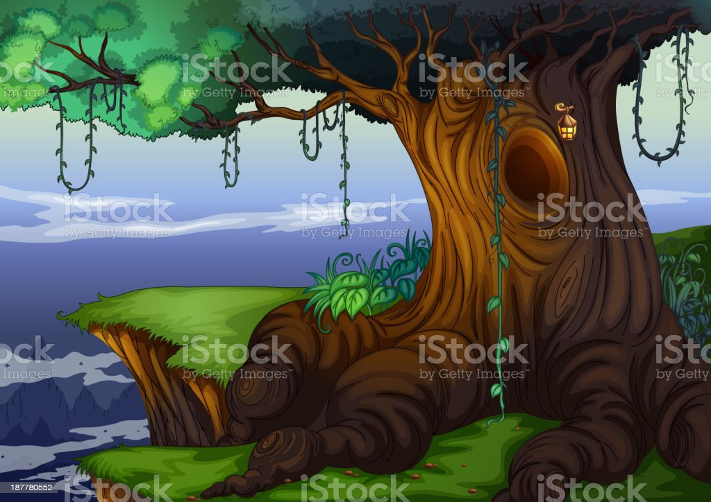Tree hollow royalty-free stock vector art