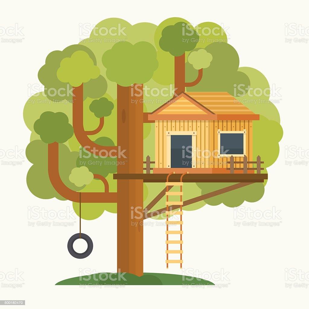 royalty free tree house clip art vector images illustrations istock rh istockphoto com tree house clipart png tree house clipart png