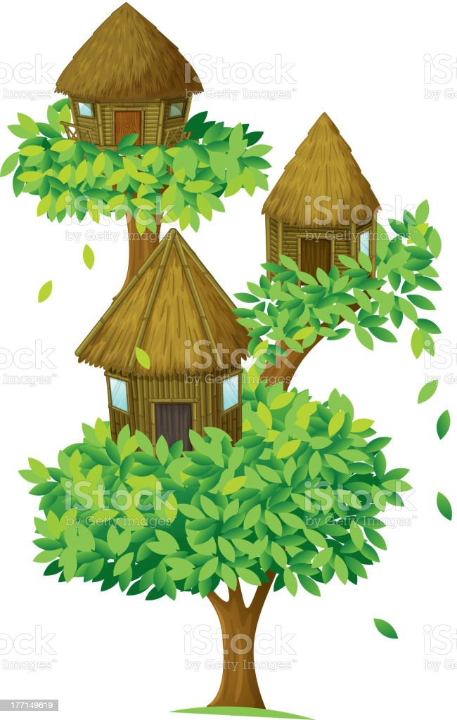 Tree house royalty-free tree house stock vector art & more images of backgrounds