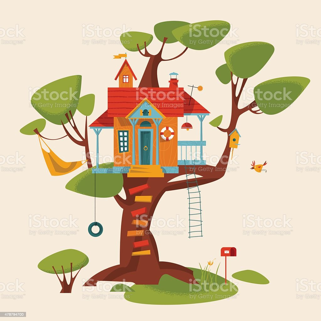 royalty free tree house kids clip art vector images rh istockphoto com tree house clipart tree house clipart free
