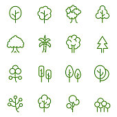 Tree icon set , vector illustration