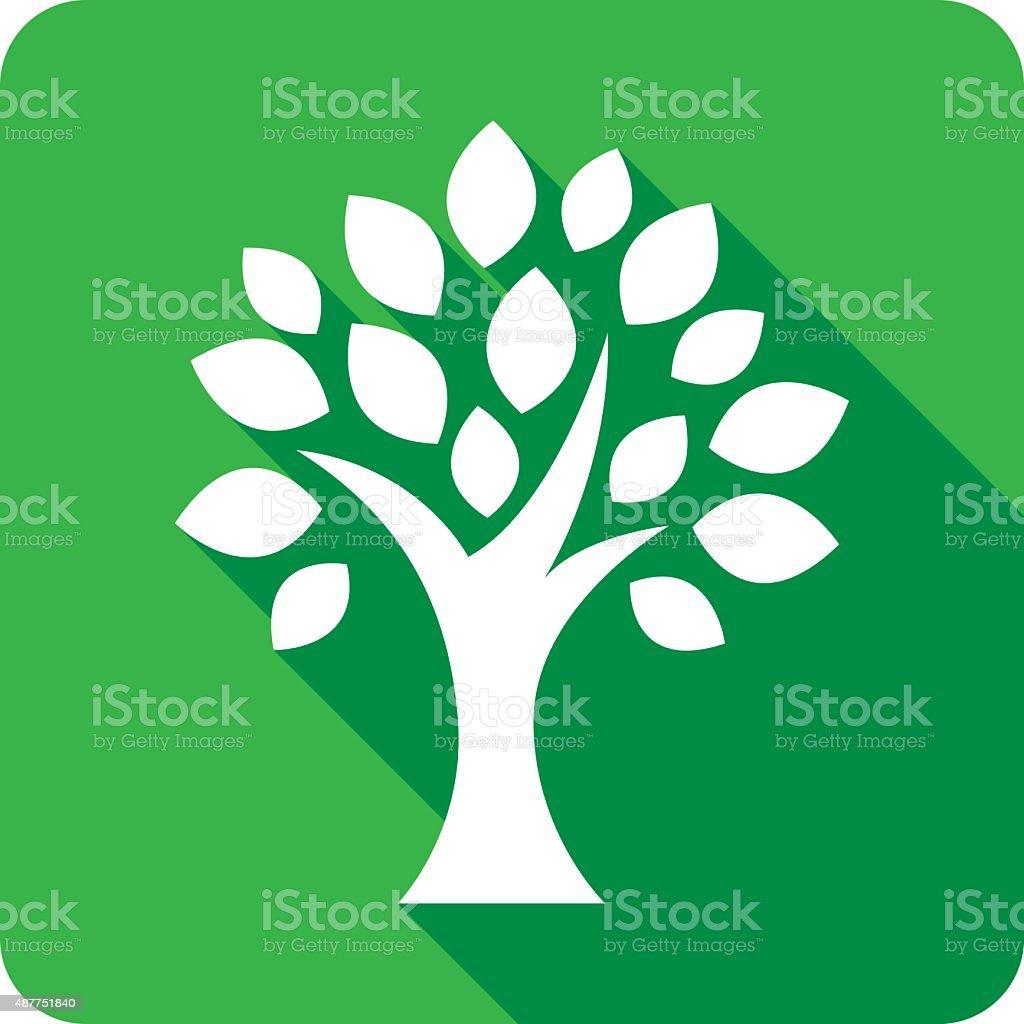 Icono de silueta de árbol - ilustración de arte vectorial