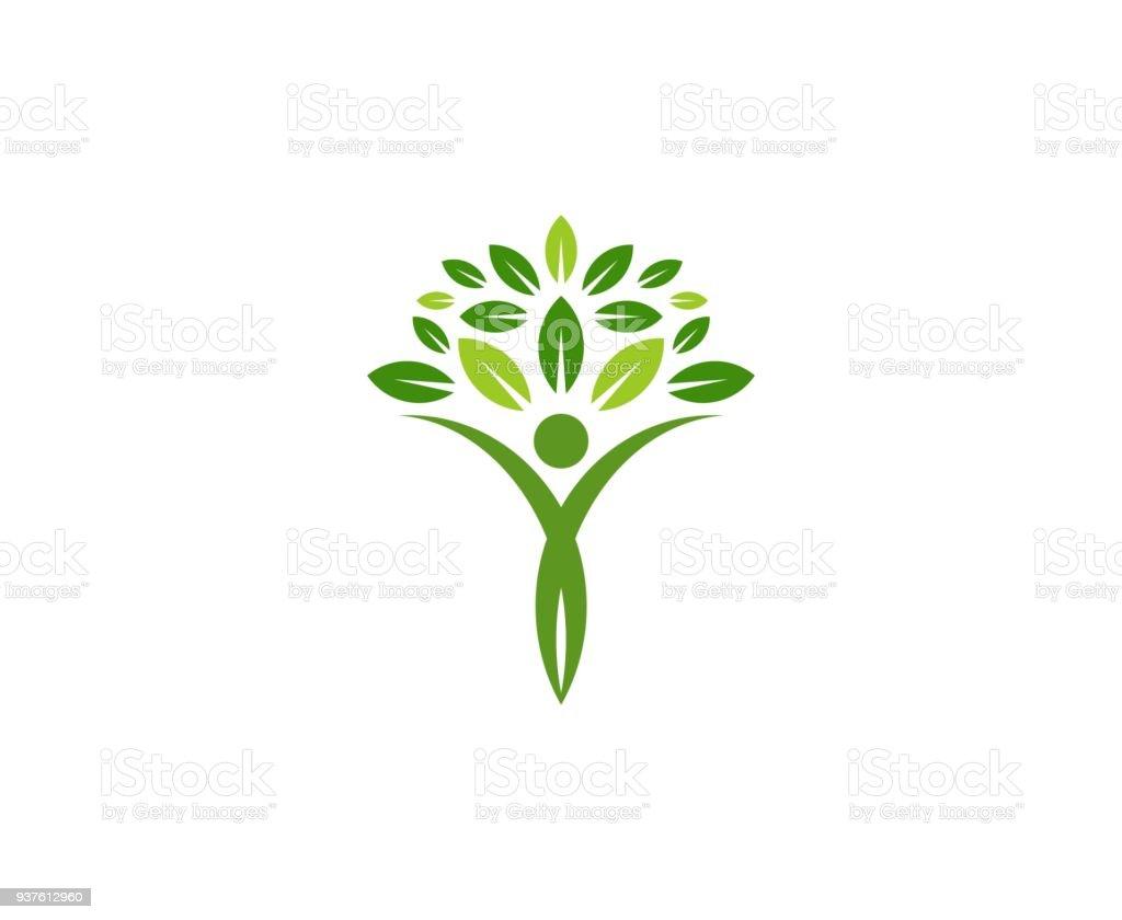 Icono de árbol - ilustración de arte vectorial