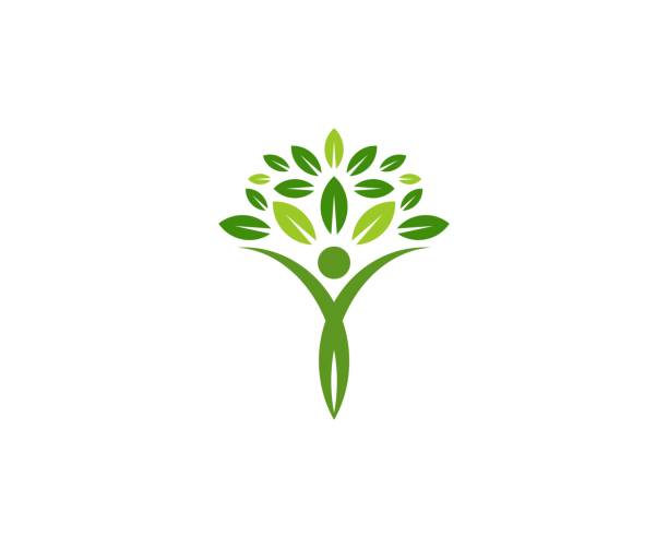tree icon - wellness stock illustrations