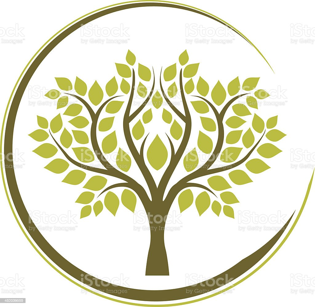 Tree in a frame royalty-free stock vector art