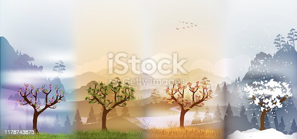 istock Tree in four seasons background 1178743873