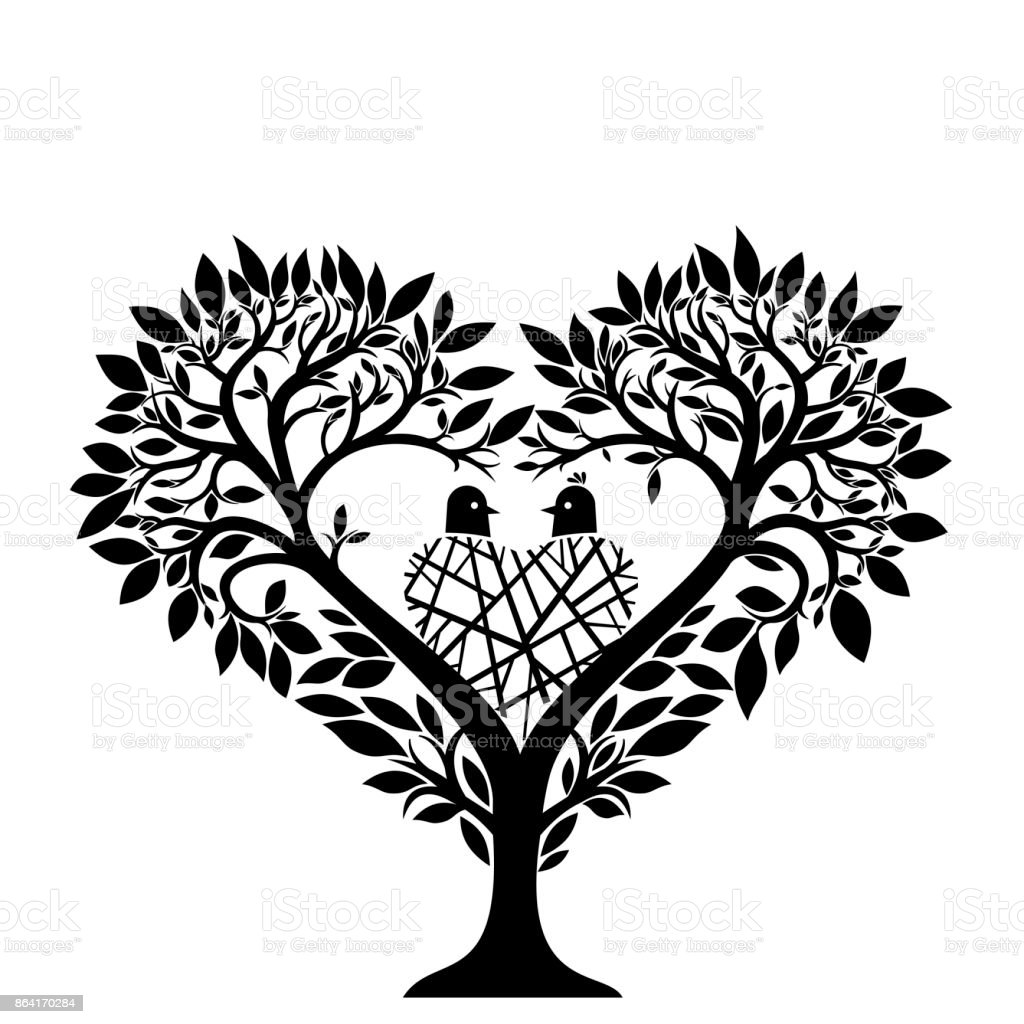 Tree in the form of a heart royalty-free tree in the form of a heart stock vector art & more images of animal