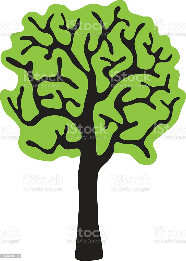 tree, isolated white background, vector royalty-free stock vector art