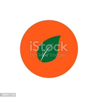 istock Tree leaf round icon vector 868627346