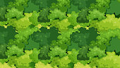 Tree Leaves on Abstract Green Background