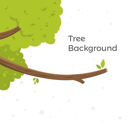 Tree leaves vector cartoon
