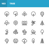 20 Tree Outline Icons.
