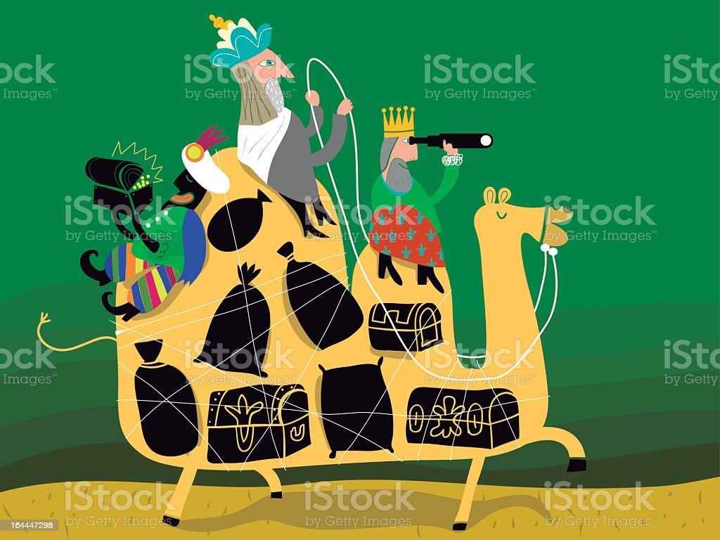 tree magical kings royalty-free stock vector art
