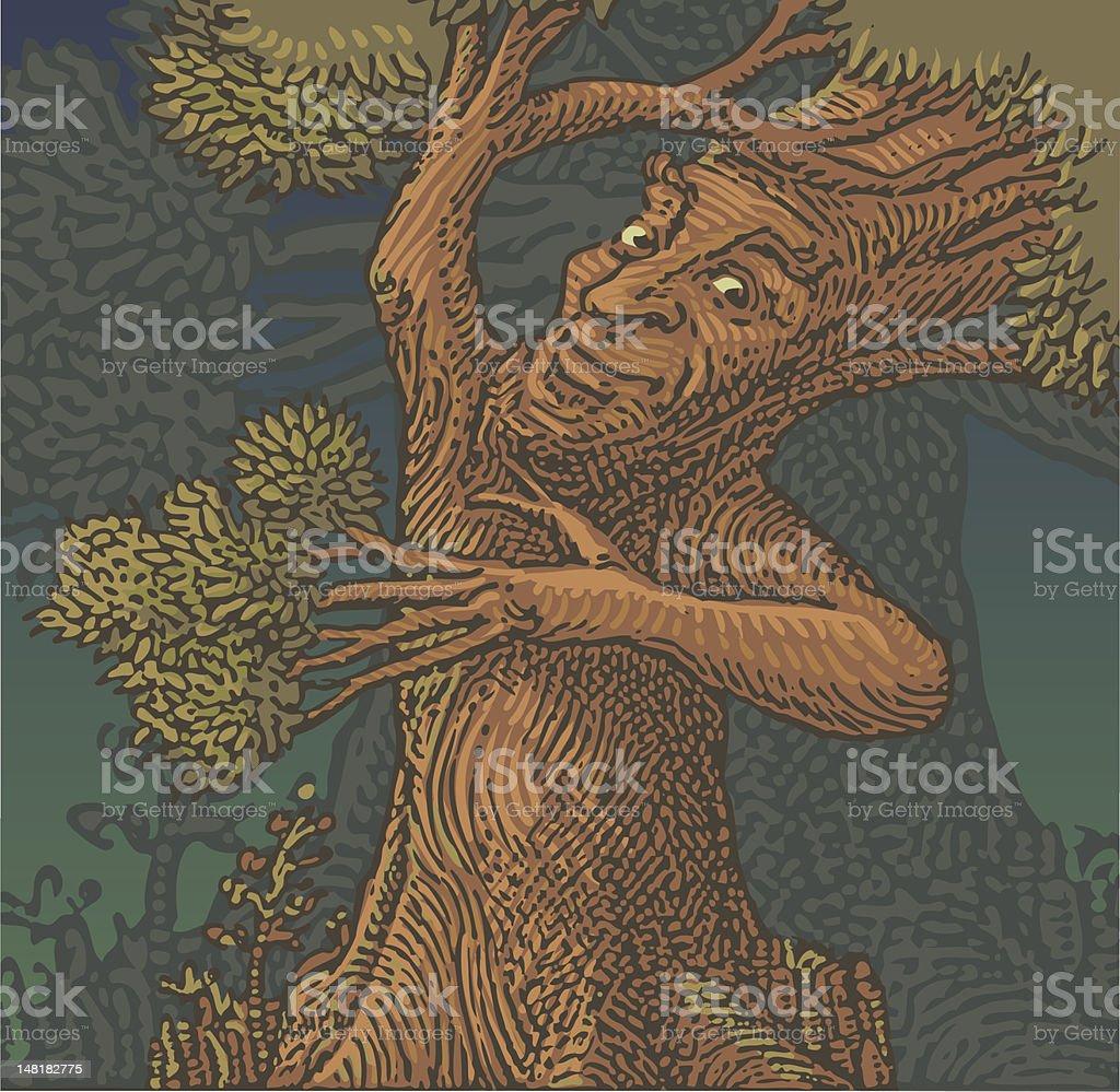 Tree Man Color  Art vector art illustration
