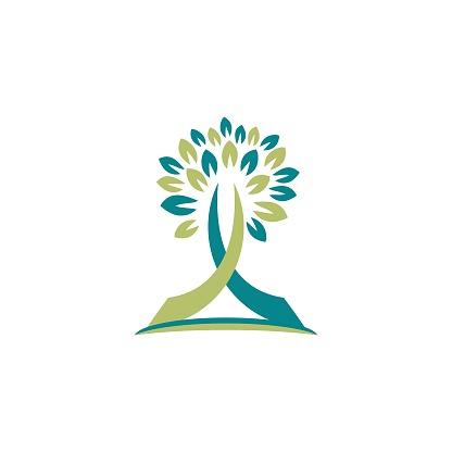 tree nature logo religious cross concept symbol icon vector design