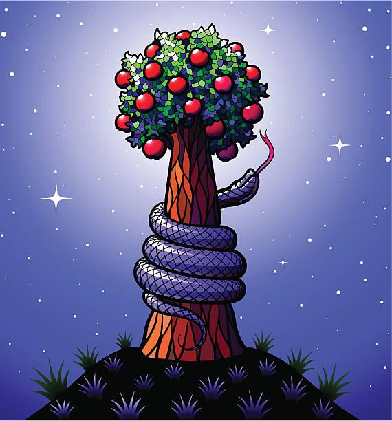 Baum des Wissens Gut und Böse – Vektorgrafik