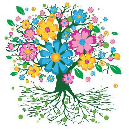 Tree of life flower version