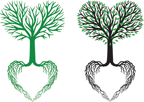 Tree Of Life Heart Tree Vector Stock Illustration - Download Image