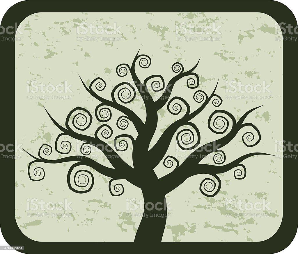 Baum Des Lebens Auf Grunge Hintergrund Vektor Illustration 470002323 ...