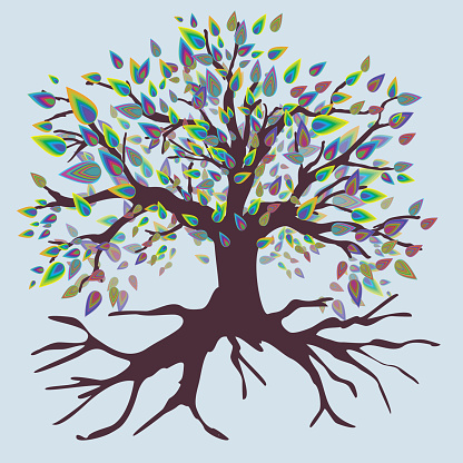 Tree of life rough rainbow version