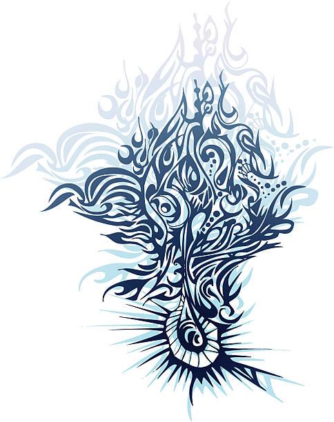 ilustrações, clipart, desenhos animados e ícones de tree of life - fontes de tatuagem