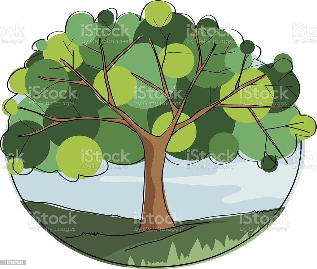 Tree of life vector art illustration