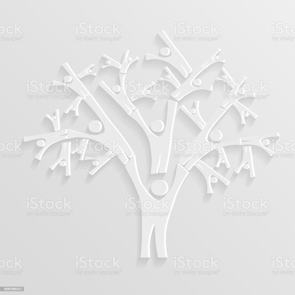 Árbol de personas - ilustración de arte vectorial