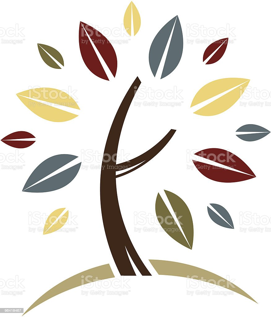 Tree on a Hill royalty-free stock vector art