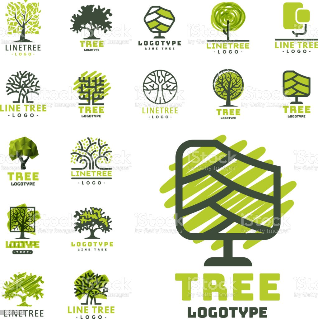 Tree outdoor travel green silhouette forest badge coniferous natural badge tops line spruce vector vector art illustration
