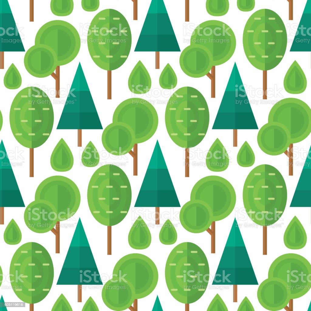 Tree outdoor travel natural seamless pattern background green pine spruce branch cedar and plant leaf vector illustration vector art illustration