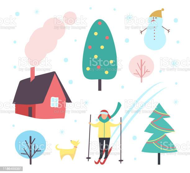 Tree pine and houses person skiing set vector vector id1186455351?b=1&k=6&m=1186455351&s=612x612&h=hxroi4ayr 51znkpe3czcyg vt3ufkfr9mbq2qah2na=