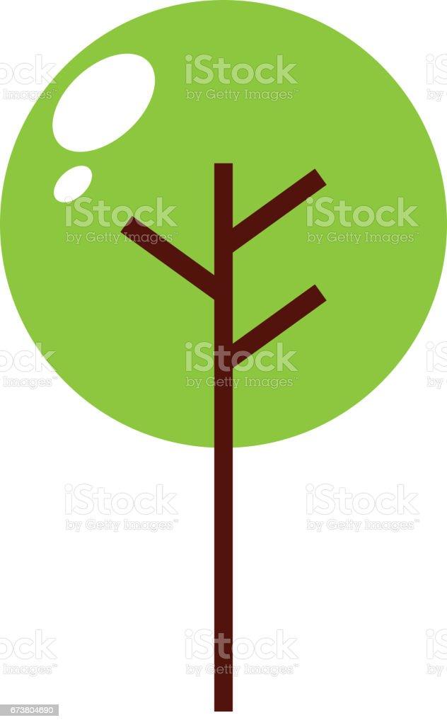 icône isolé de plante arbre icône isolé de plante arbre – cliparts vectoriels et plus d'images de arbre libre de droits