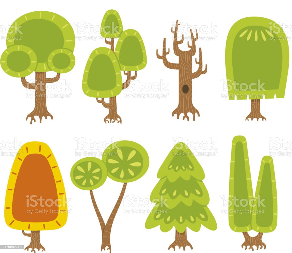 Tree Plants Garden Set royalty-free tree plants garden set stock vector art & more images of beauty in nature