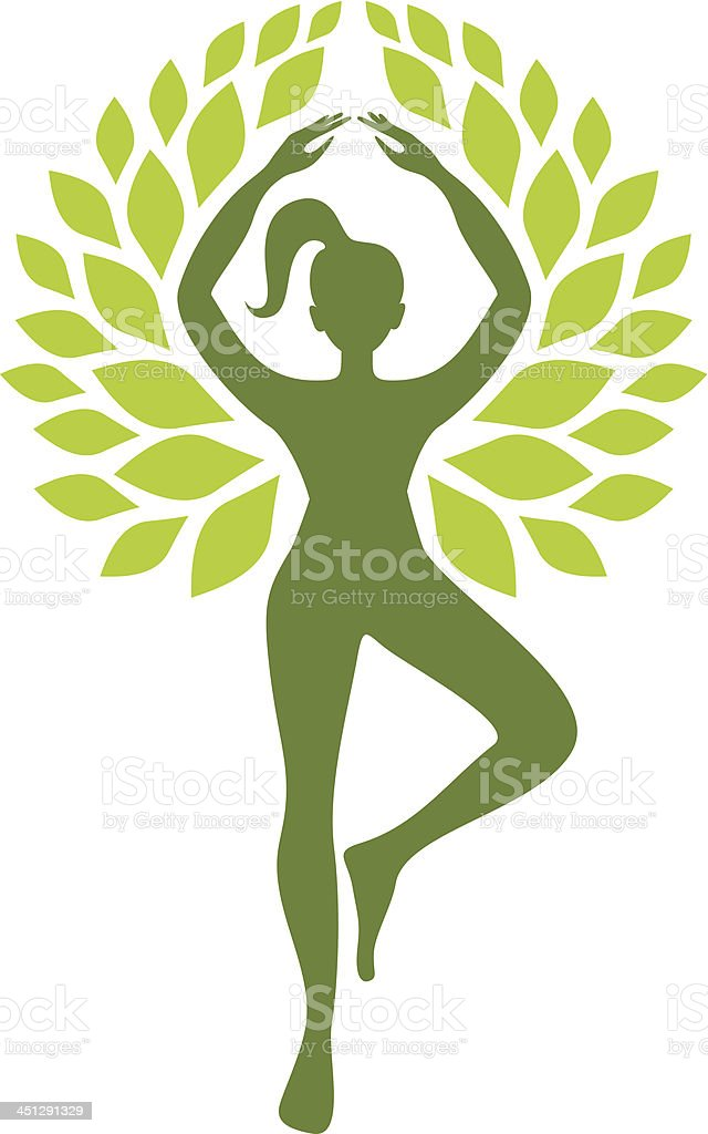 Tree position vector art illustration