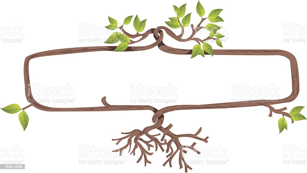 Tree Shape Frame Banner Stock Vector Art & More Images of Branch ...