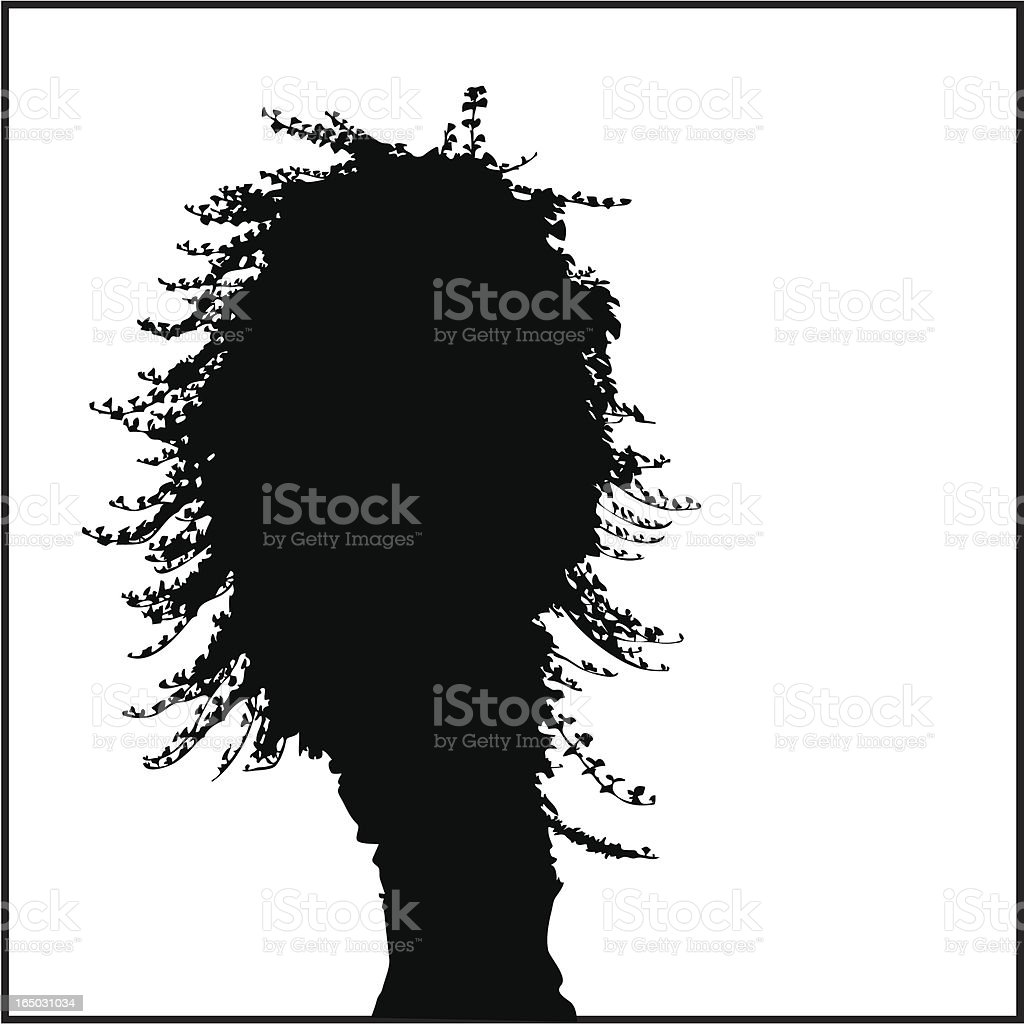 Tree Silhouette 04 royalty-free stock vector art