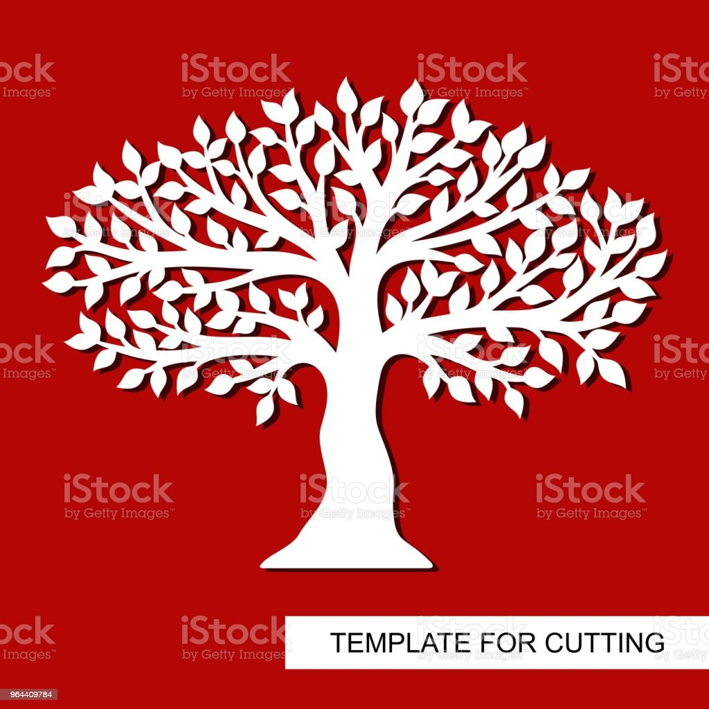 Tree silhouette isolated. - Royalty-free Botany stock vector
