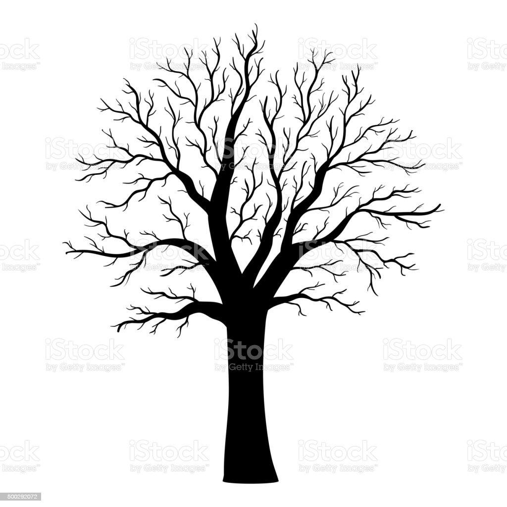 Tree silhouette vector art illustration