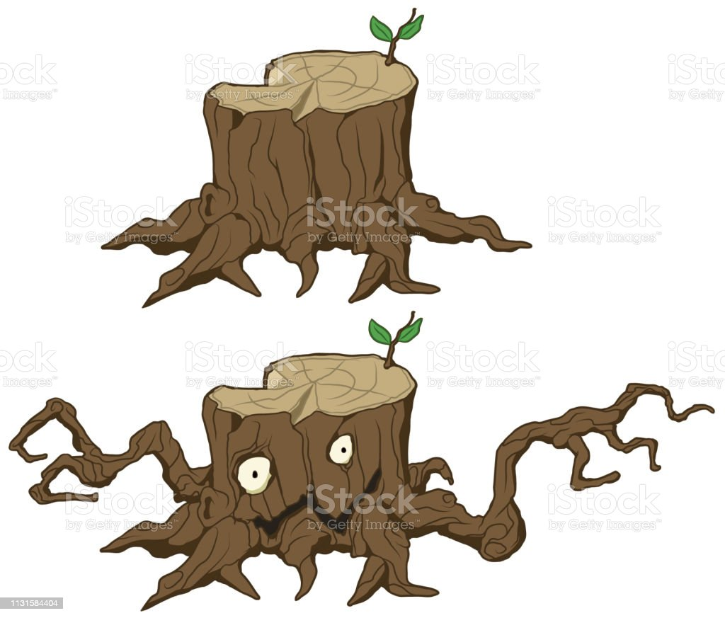 Tree Stump Monster Cartoon Stock Illustration Download Image Now Istock Hello i tried to texture this model i foundo online, hope you like it. tree stump monster cartoon stock illustration download image now istock
