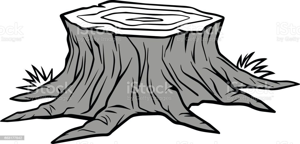 tree stump removal illustration stock vector art more images of rh istockphoto com tree stump clipart free tree stump clipart free