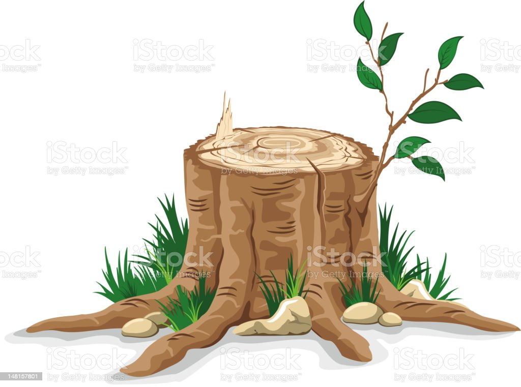 Royalty Free Tree Stump Clip Art Vector Images