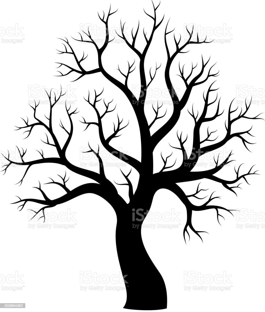 Tree theme silhouette image 1 vector art illustration