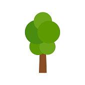 Tree - Vector Cartoon Illustration