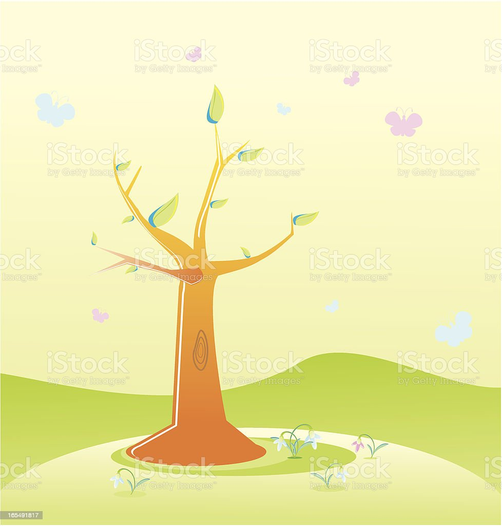 Tree royalty-free tree stock vector art & more images of backgrounds