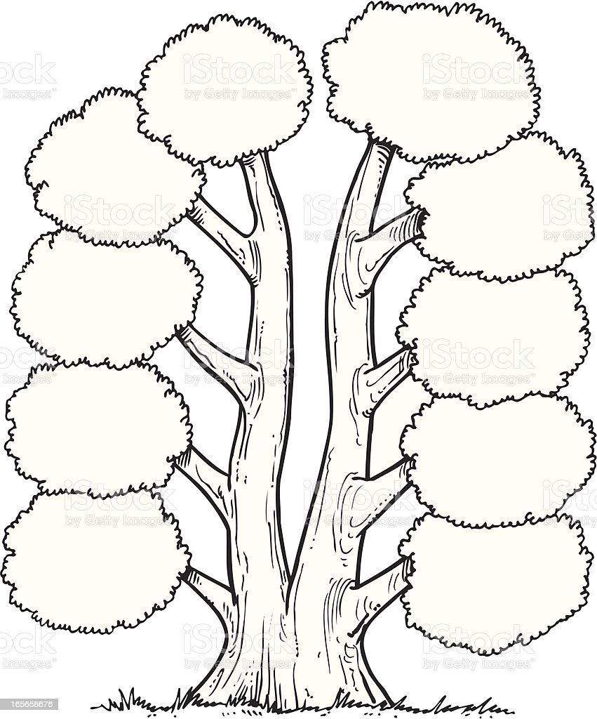 Tree royalty-free tree stock vector art & more images of black and white